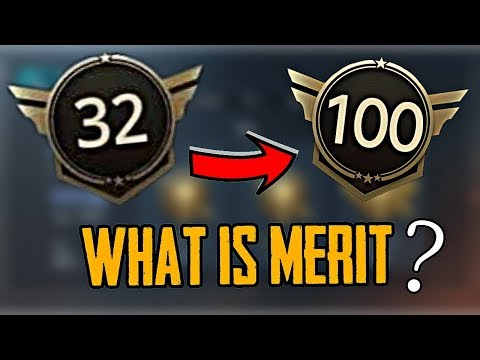 WHAT IS MERIT IN PUBG MOBILE ?? HOW TO INCREASE MERIT IN PUBG MOBILE !!