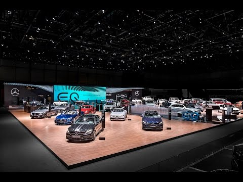 Lighting design for the Mercedes-Benz Exhibition Stand at Geneva Motor Show 2017 - rgb gmbh