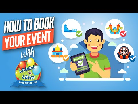 How to book your event with Laugh n Leap Amusements | Columbia, SC