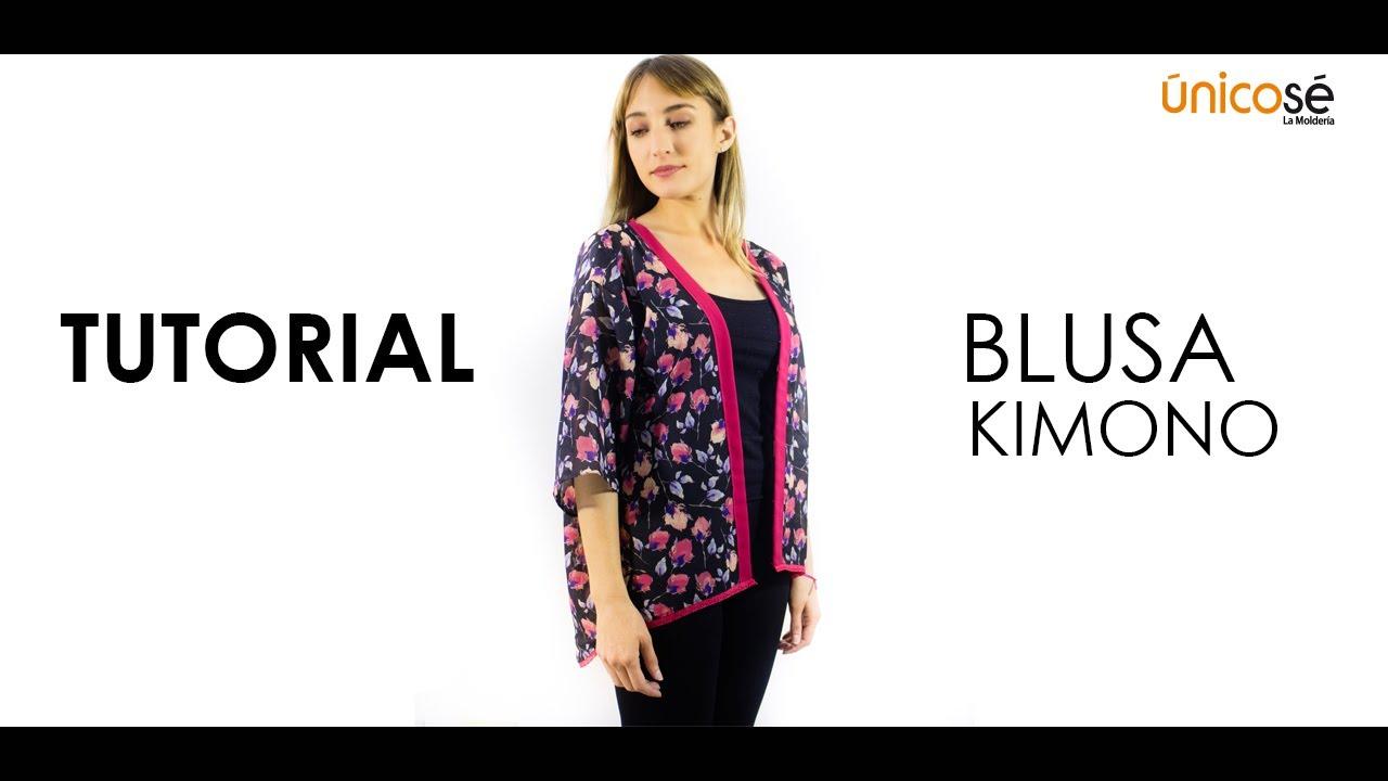 DIY Costura patrón Blusa kimono - YouTube