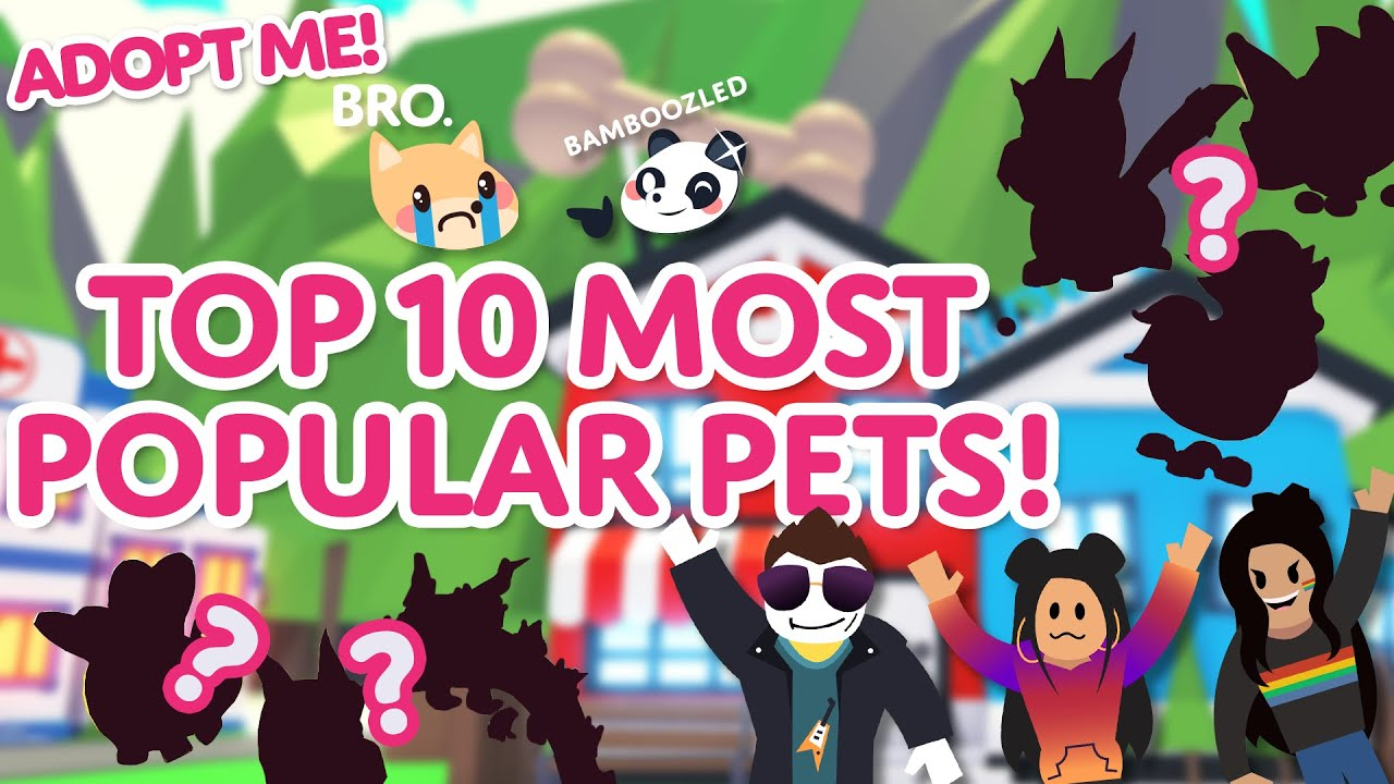 """""""DOGS ARE BETTER THAN CATS?!""""🐶💢😾 TOP 10 MOST POPULAR PETS 2021🏆Adopt Me! on Roblox"""