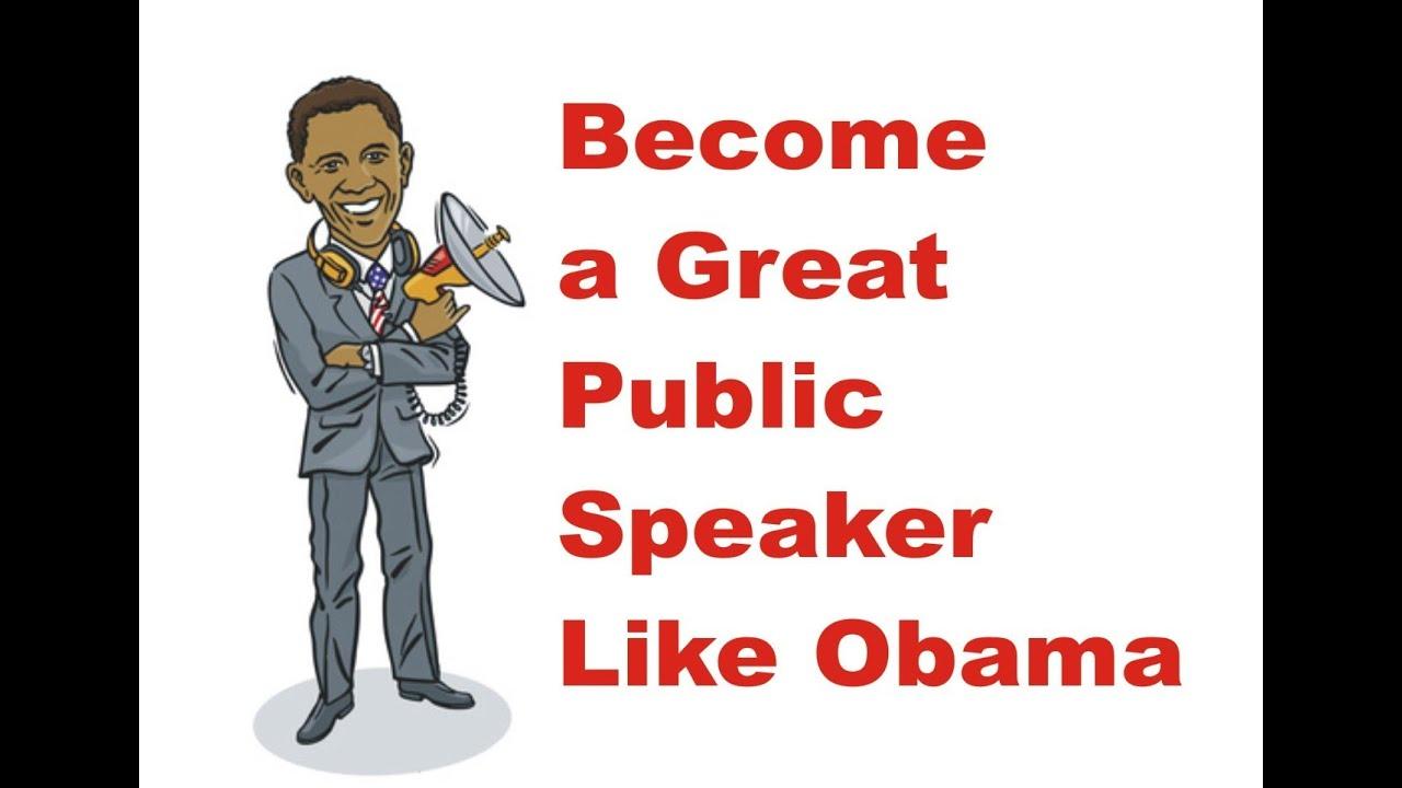 be a good speaker