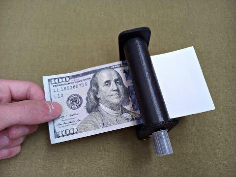 Как сделать машинку для печатания денег? / how to make sealing machine for money?