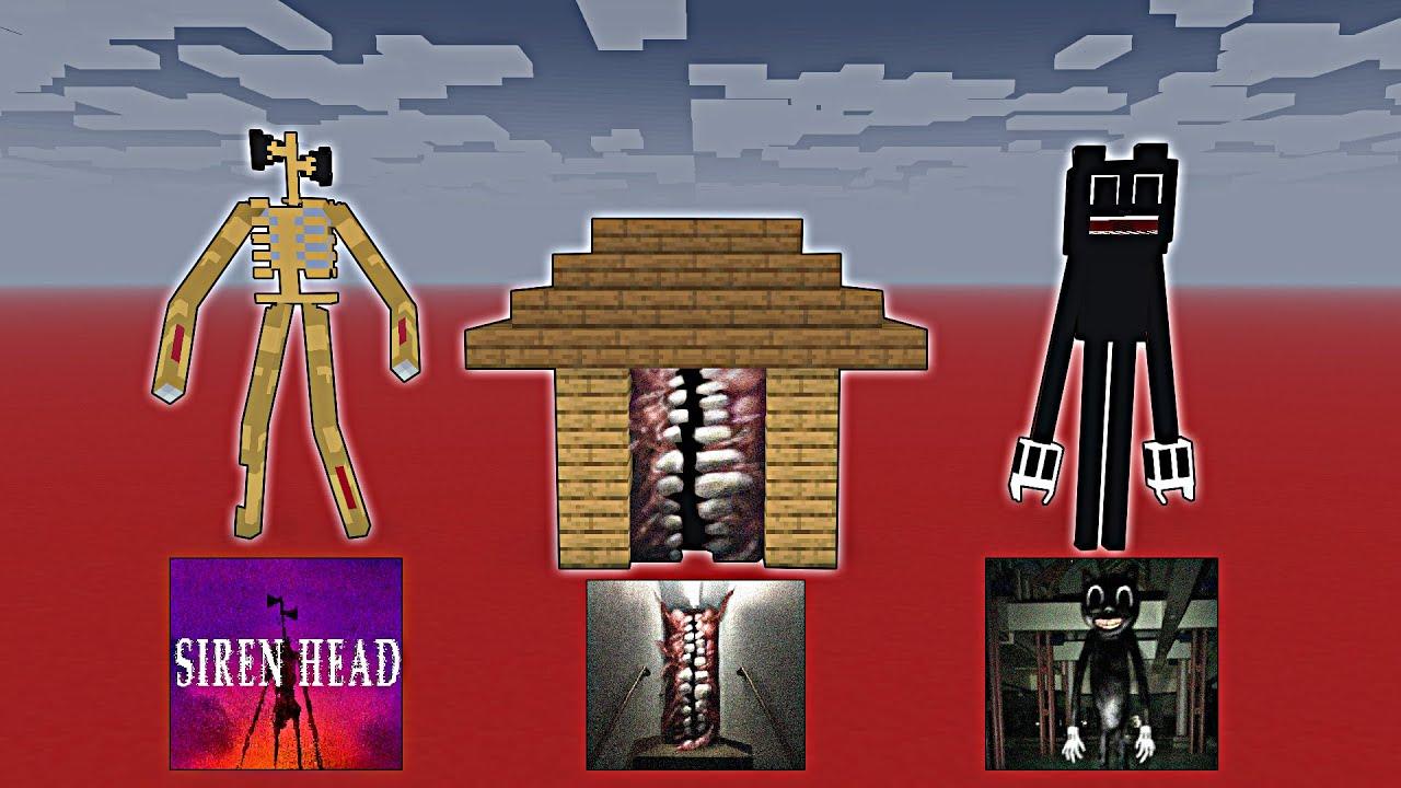 Monster School : SIREN HEAD VS CARTOON CAT VS SMILE ROOM SEASON 9 ALL EPISODE - Minecraft Animation