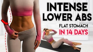 INTENSE LOWER ABS FAT BURN in 14 Days 5 min Home Workout