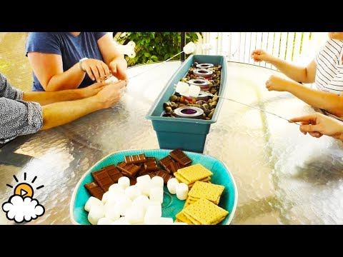 Easy DIY Outdoor S'mores Station Tutorial by eBay!