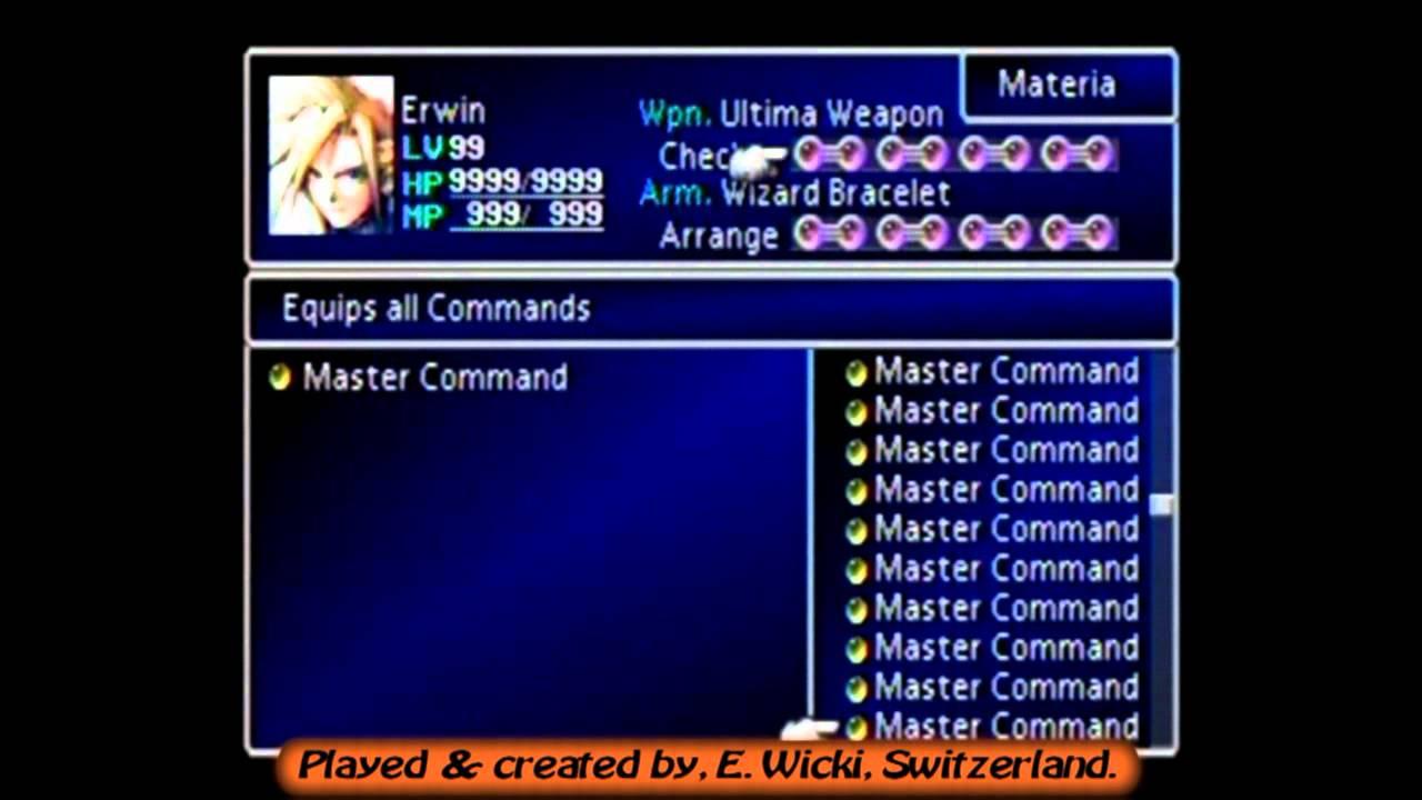 Final Fantasy 7 Ultimate Save File Materia Exhibition Swissgamer777 Youtube