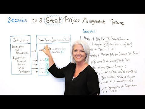Secrets To A Great Project Management Resume - Project Management Training