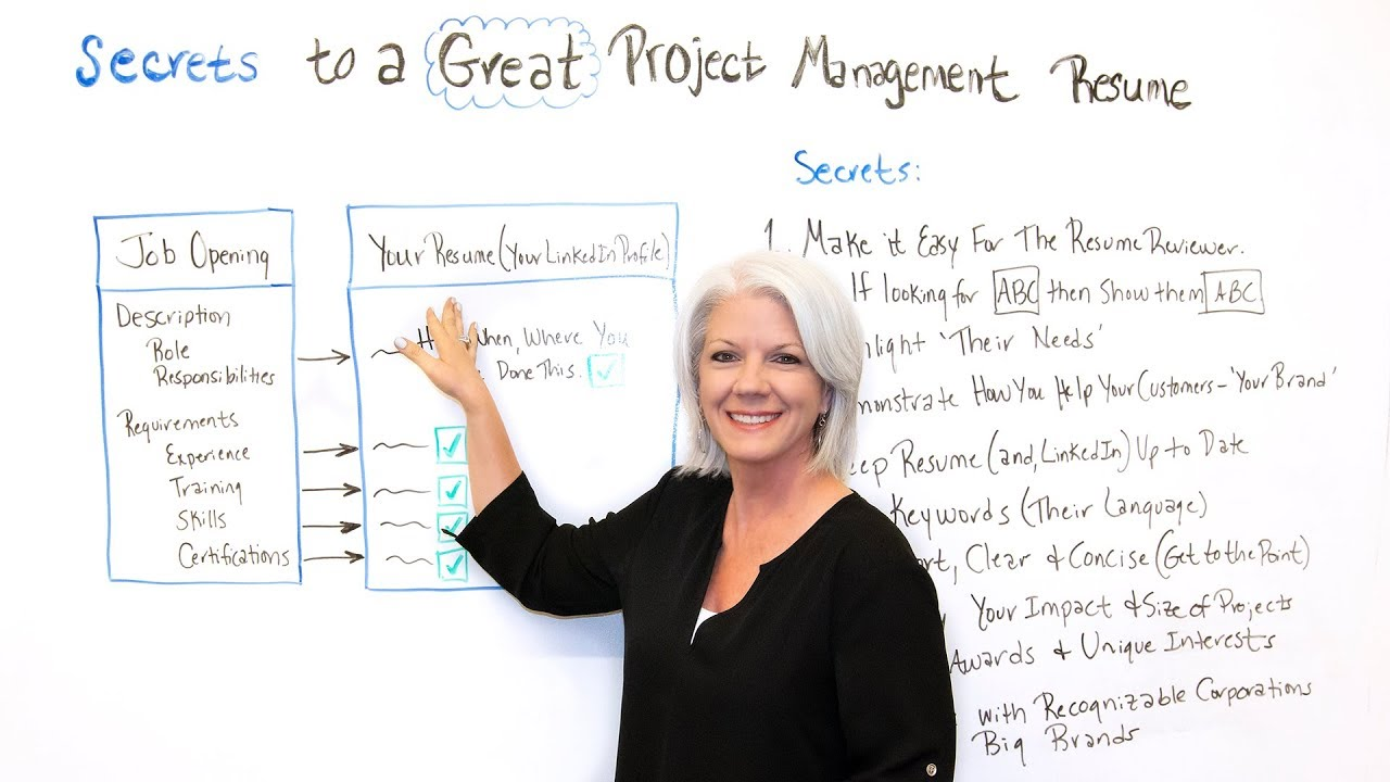 Secrets To A Great Project Management Resume Projectmanager Com
