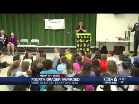 WATCH: Greenfield Elementary student wins InvestWrite essay contest