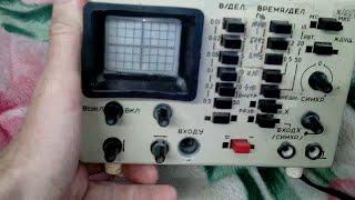 Нашёл советский осциллограф и как с его помощью найти обрыв провода, легче всяких приборов