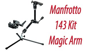 Manfrotto 143 Kit Magic Arm, Braccio, Base, 035, Nero