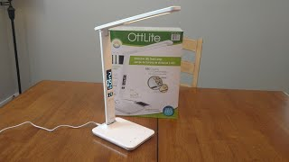 Ottlite Executive LED Desk Lamp from Costco Unboxing and Review