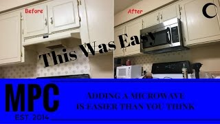 How to Install a Microwave Over Your Stove