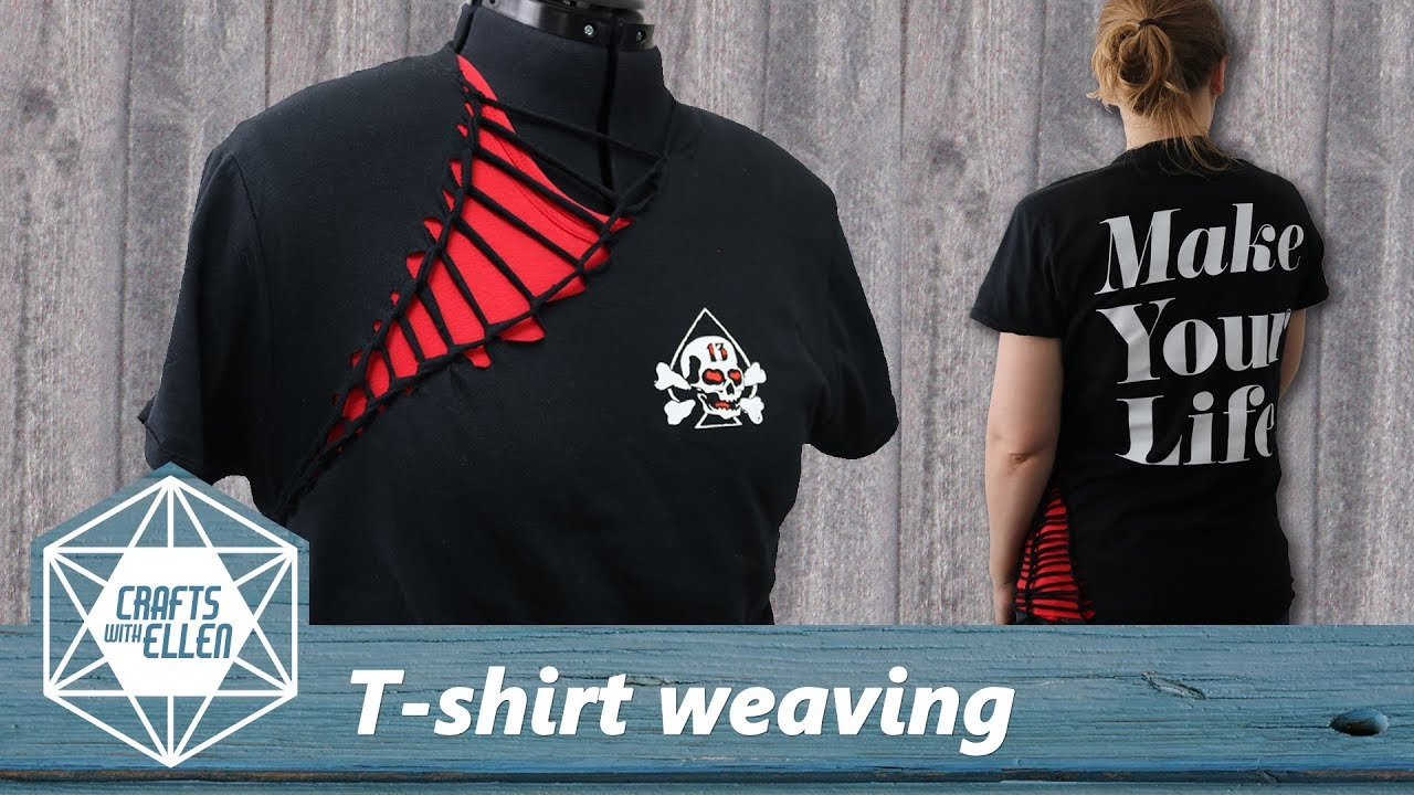 How To Add Weaving To A T Shirt Tutorial Youtube
