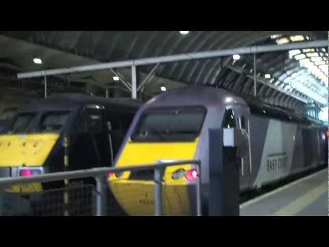 Onboard InterCity East Coast Train GR6560. London, England, UK to Edinburgh, Scotland, UK