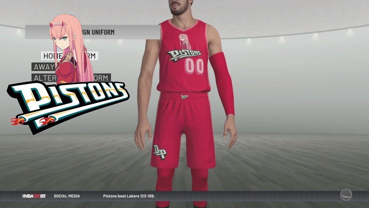 ac5d9b73499f NBA 2K19 Anime Team Designs PS4 Ep.4 - Detroit Pistons (NBA 2K19 MyLEAGUE  PS4)
