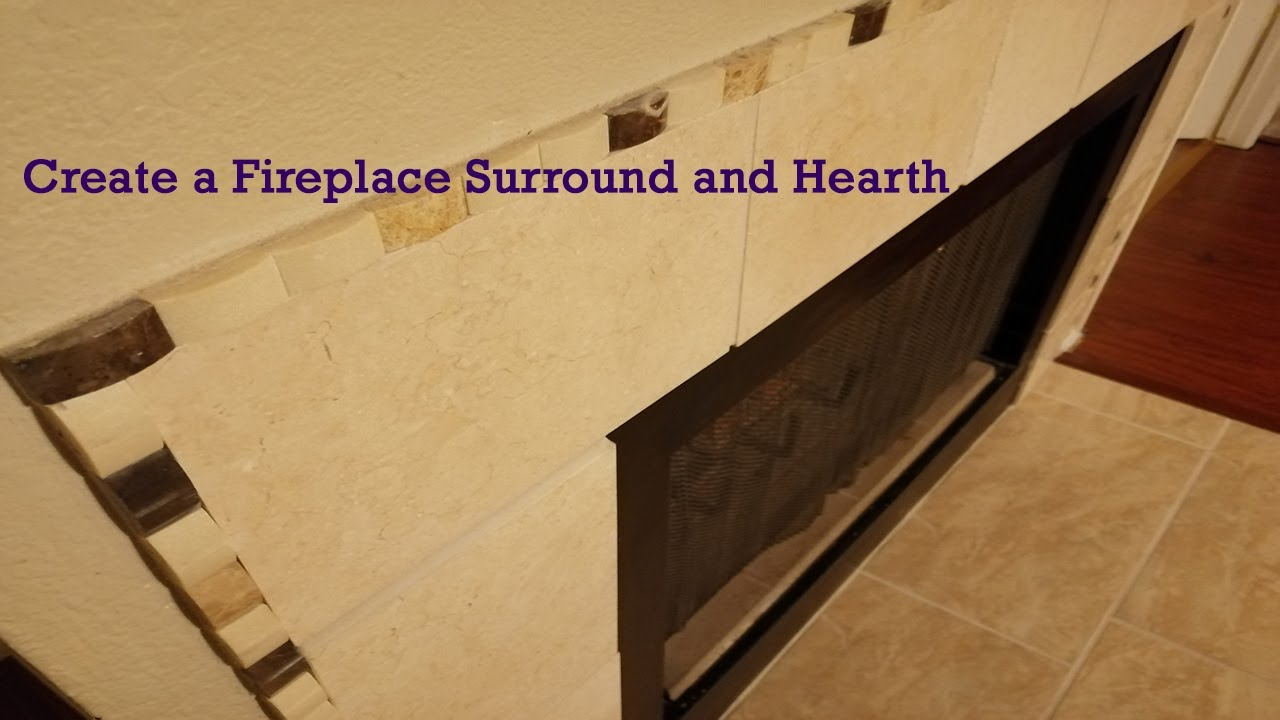 create a tile fireplace surround and hearth youtube