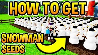 HOW TO GET SNOWMAN SEEDS IN WELCOME TO FARMTOWN! Beta | Roblox