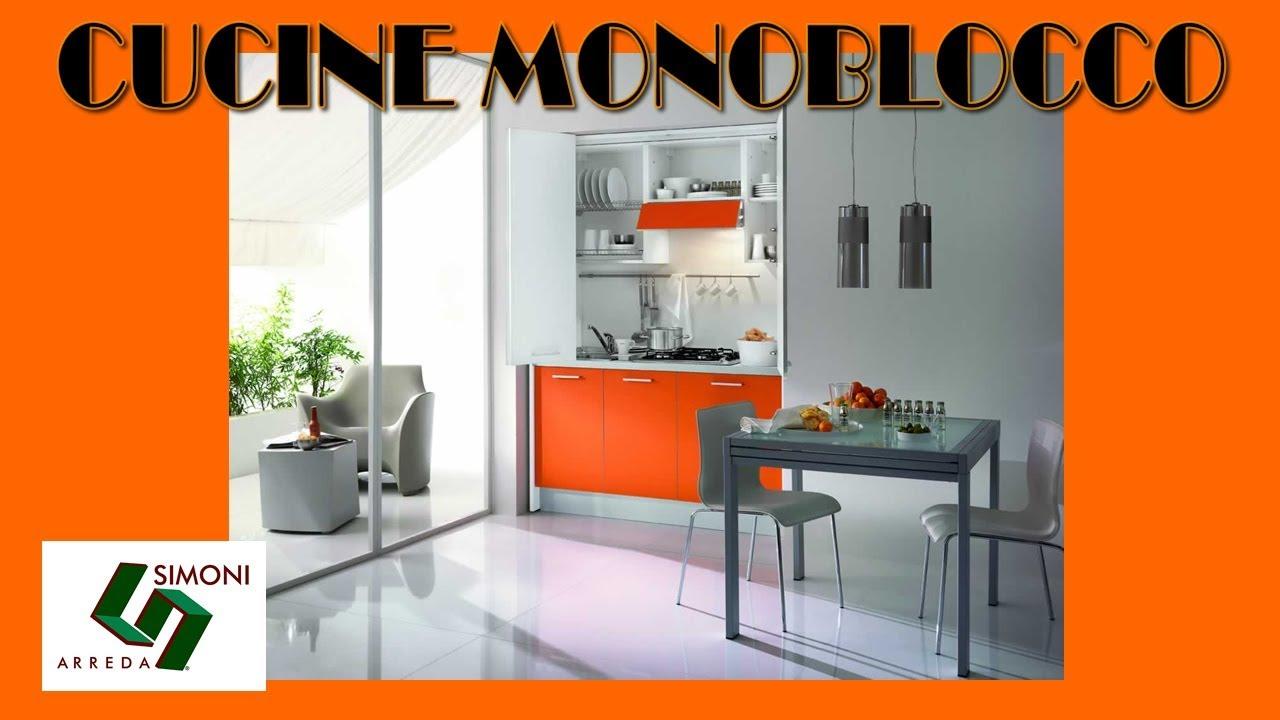 CUCINE MONOBLOCCO | MINI CUCINE | cm 155 - YouTube
