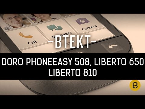 Doro PhoneEasy 508, Liberto 650 and 810 hands-on