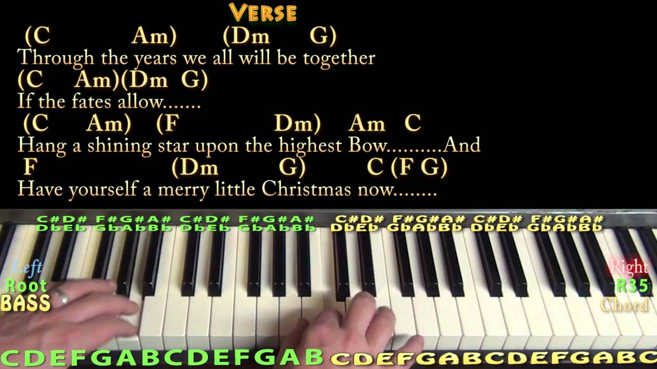 have yourself a merry little christmas piano cover lesson in c chords lyrics - Have Yourself A Merry Little Christmas Piano Chords