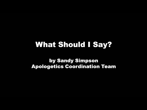 What Should I Say? by Sandy Simpson