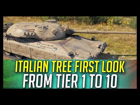 ► Italian Tech Tree From Tier 1 To 10 First Look - World of Tanks Italian Tanks