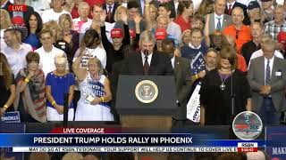 Rev. Franklin Graham AMAZING Prayer for Unity at President Trump Rally in Phoenix
