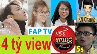 Top 25 kênh youtube có lượt xem (view) khủng nhất Việt Nam | Cực Chất TV
