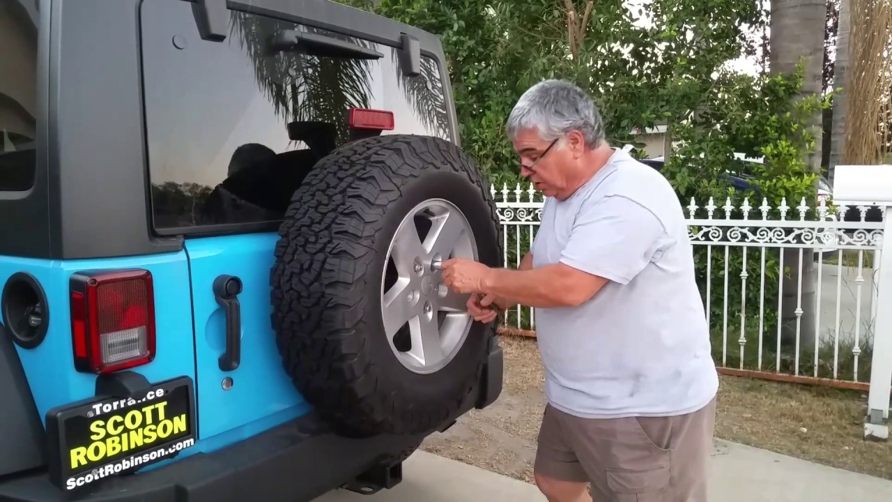 This Is Video Two Of The Bolt Spare Tire Lock Jeep Wrangler Spare