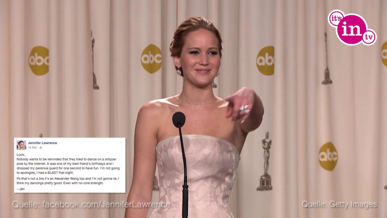 Jennifer Lawrence: DAS sagt sie zu ihrem Strip-Video! - YouTube