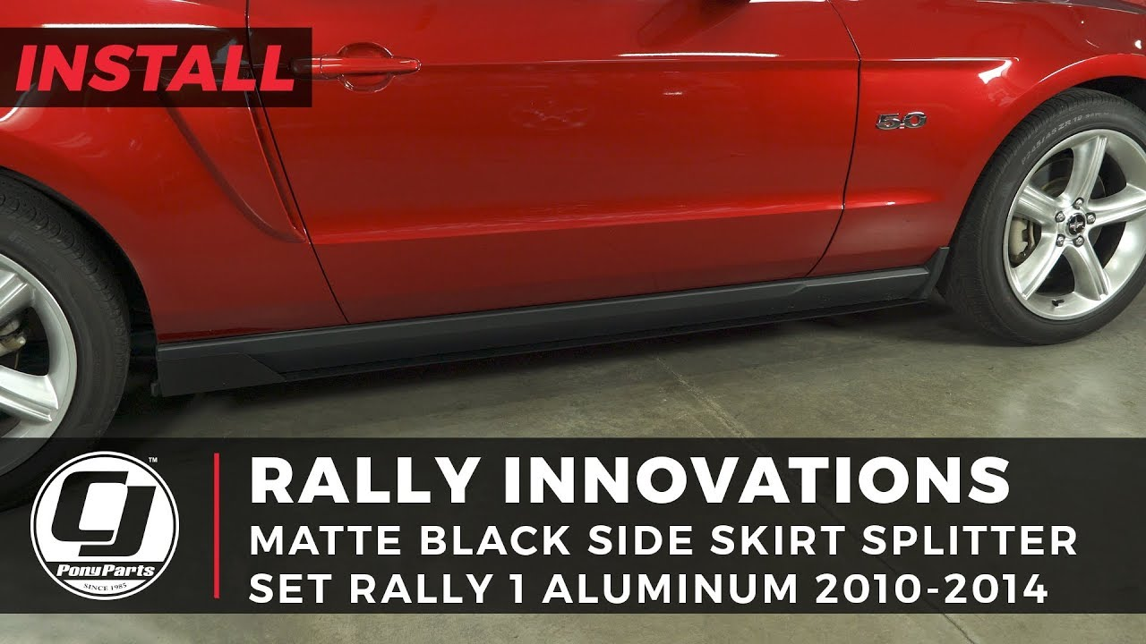 2010-2014 Mustang Install | Rally Innovations Rally 1 Aluminum Side Skirt  Splitters