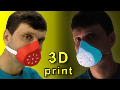 🌑 КАК СДЕЛАТЬ МАСКУ РАСПИРАТОР на 3D принтере и не платить спекулянтам! 3D Print MASK Игорь Белецкий