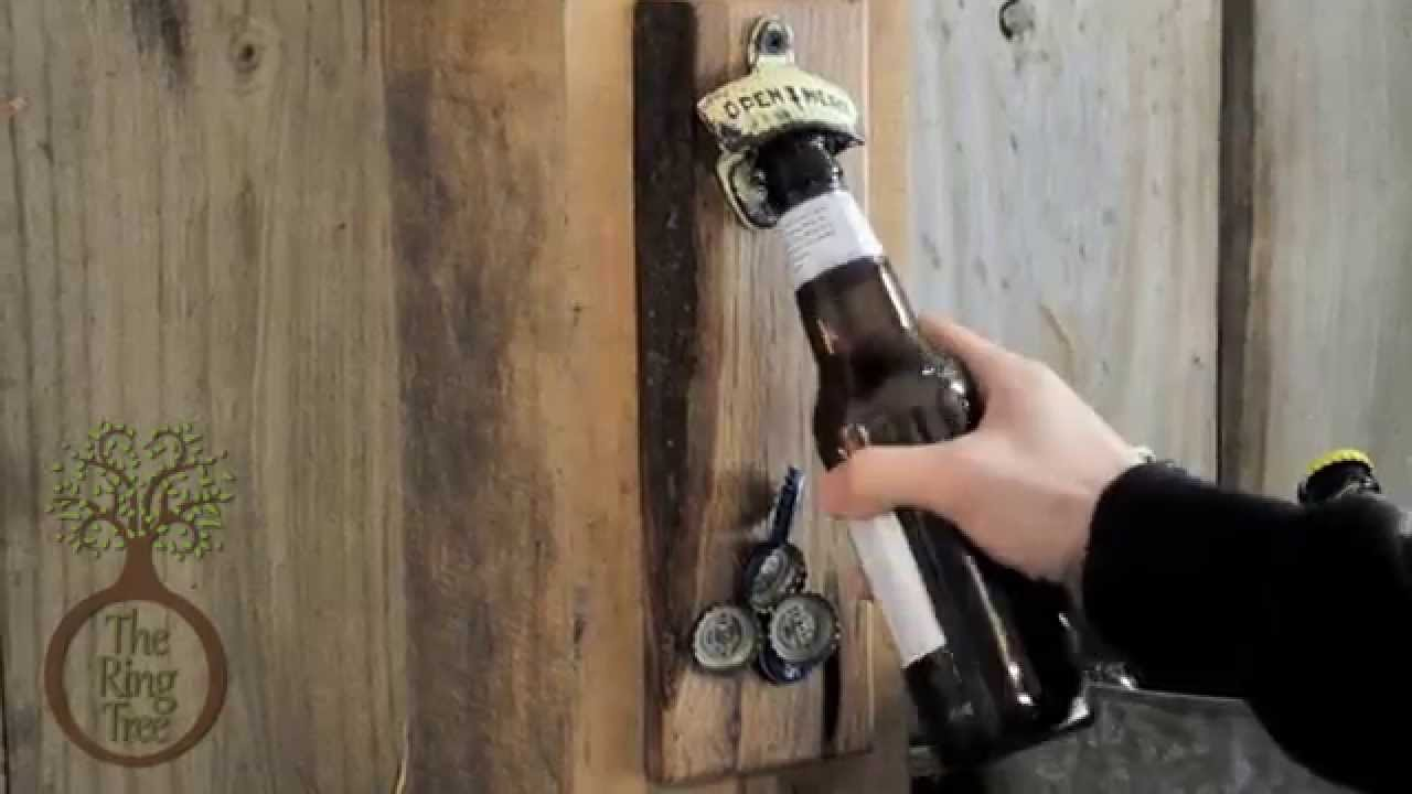 capcollector magnetic bottle openers wall mount youtube. Black Bedroom Furniture Sets. Home Design Ideas