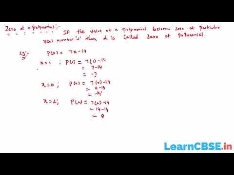 Zeros and Values of a Polynomial | Zeros of a Polynomial Definition | CBSE Class 10 Maths