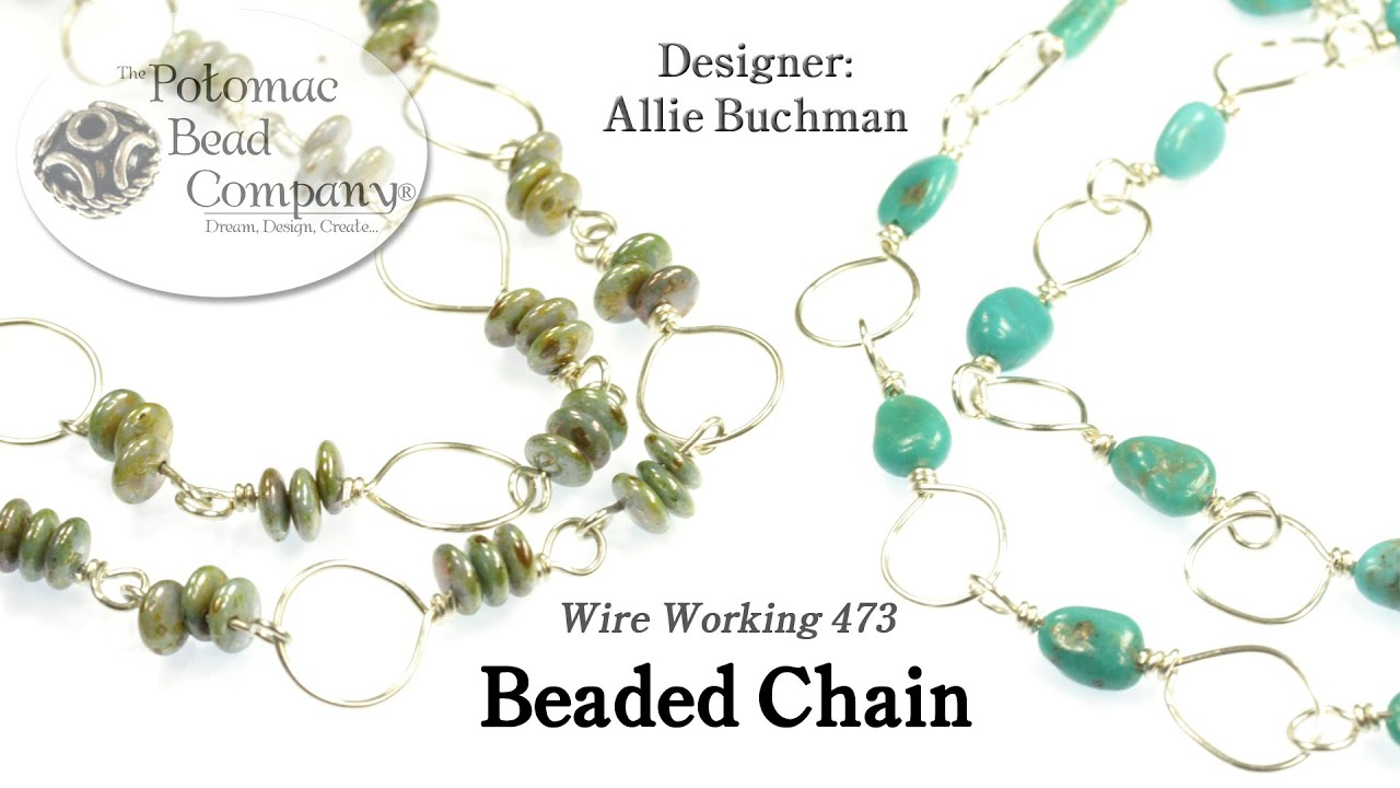 necklace bracelet tutorial wrapped by pam beads tutorials chained bead wire jewelry books