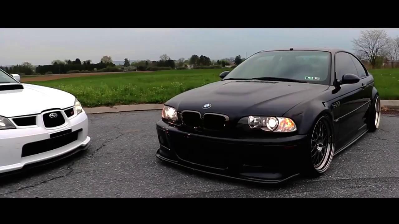 BMW E46 M3  Subaru WRX STI  YouTube