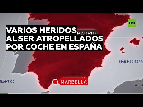 España: Varios heridos tras ser atropellados por un automóvil que invadió una acera