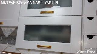 Mutfak dolapları nasıl boyanır? Mutfak dolabı boyama. Kapak boyama..do you paint kitchen cabinets?