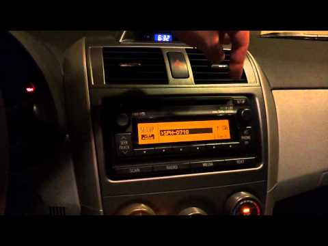 2012 Toyota Corolla LE Stereo Operation