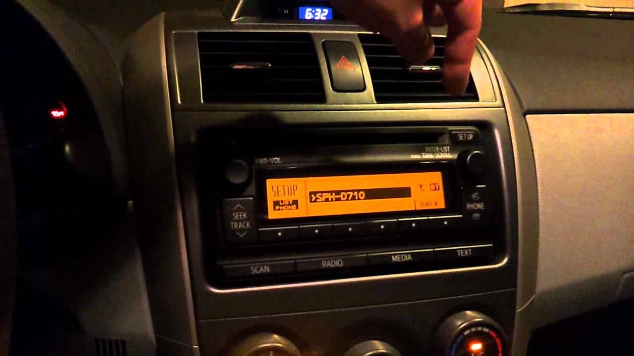 2012 Toyota Corolla LE Stereo Operation  YouTube