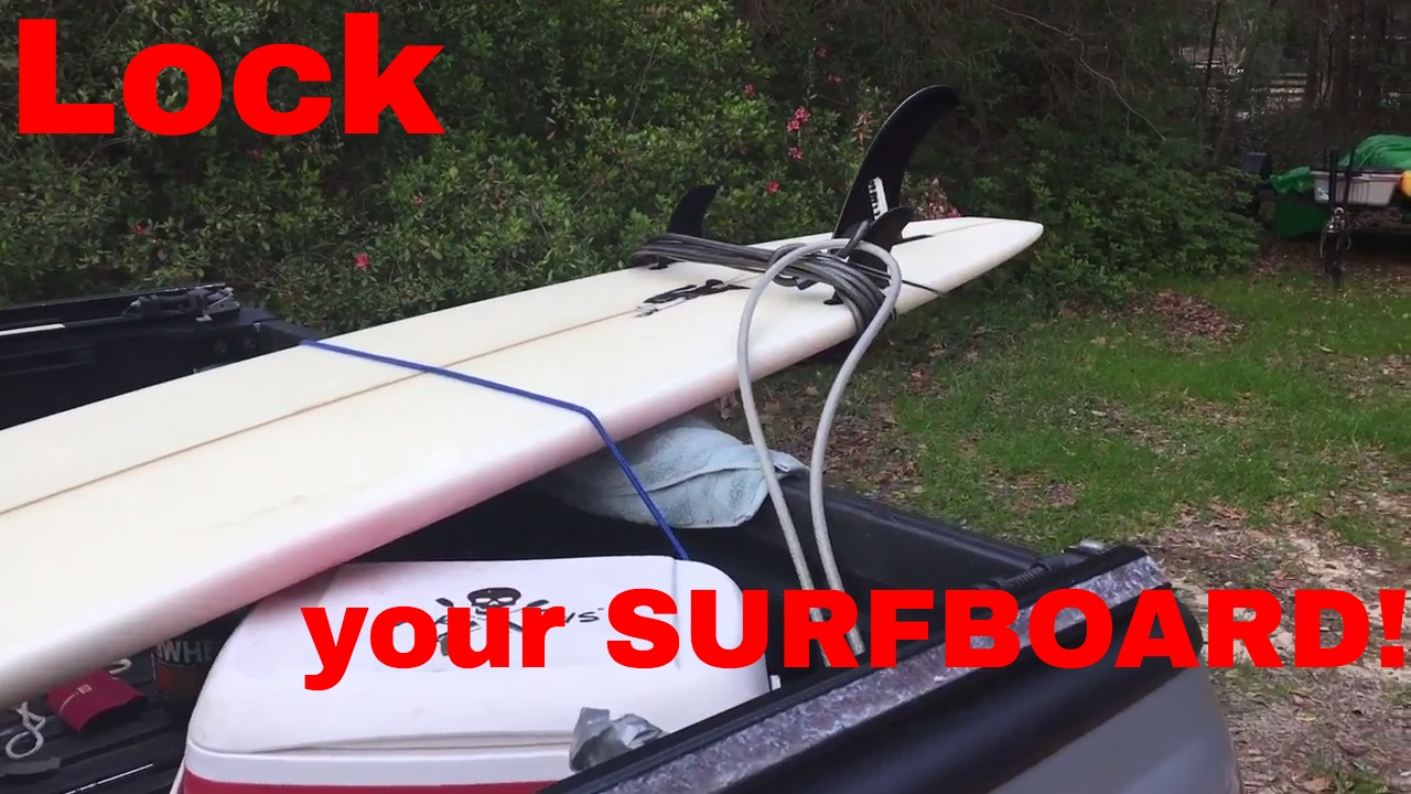 Paddle Board Rack >> How to lock a Surfboard/ SUP Paddle board to the TRUCK ...