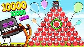 99999 КРАСНЫХ ШАРИКОВ И БОССОВ КВАДРАТОВ в Энгри Бердз ! Red Ball 4 Angry Birds Мультик красный шар