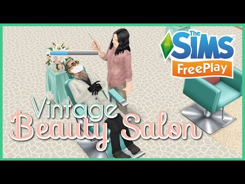 The Sims Freeplay | Vintage Beauty Salon (Hair Today Gone Tomorrow Live Event)