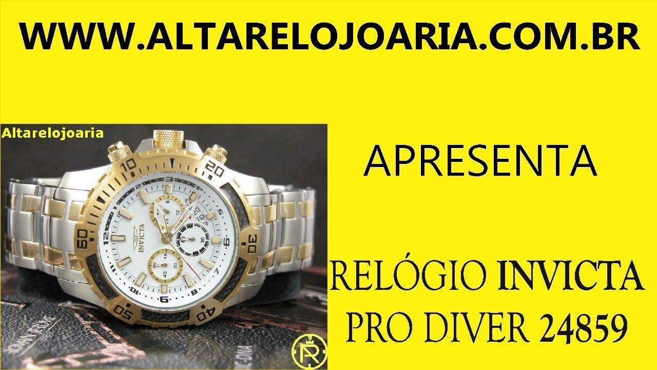 232368e4b92 Relógio Invicta Pro Diver Cronógrafo Misto 24859. Altarelojoaria