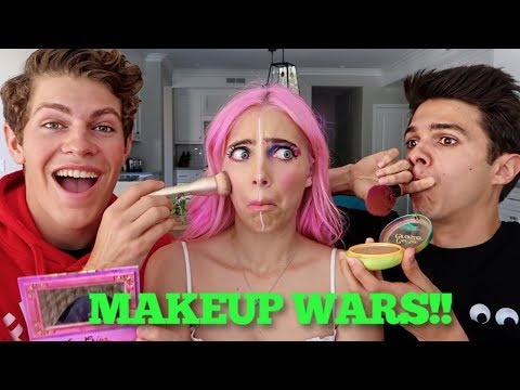 BRENT RIVERA & BEN AZELART DO MY MAKEUP??!?!
