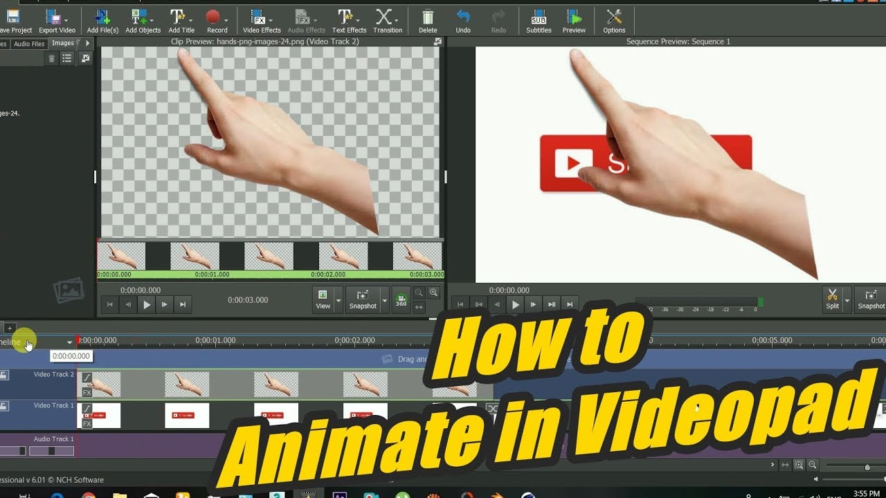 Videopad Animation Tutorial   How to Animate Objects in ...
