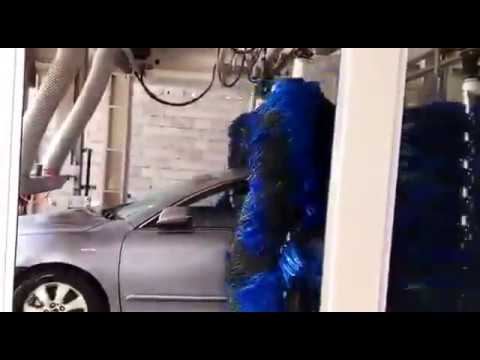 Automatic tunnel car washing machine installed in saudi arabia