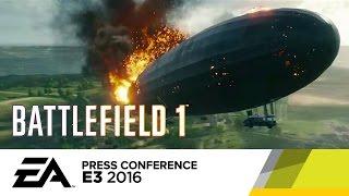 Zeppelin Crashes in Battlefield 1 - Official E3 2016 Gameplay